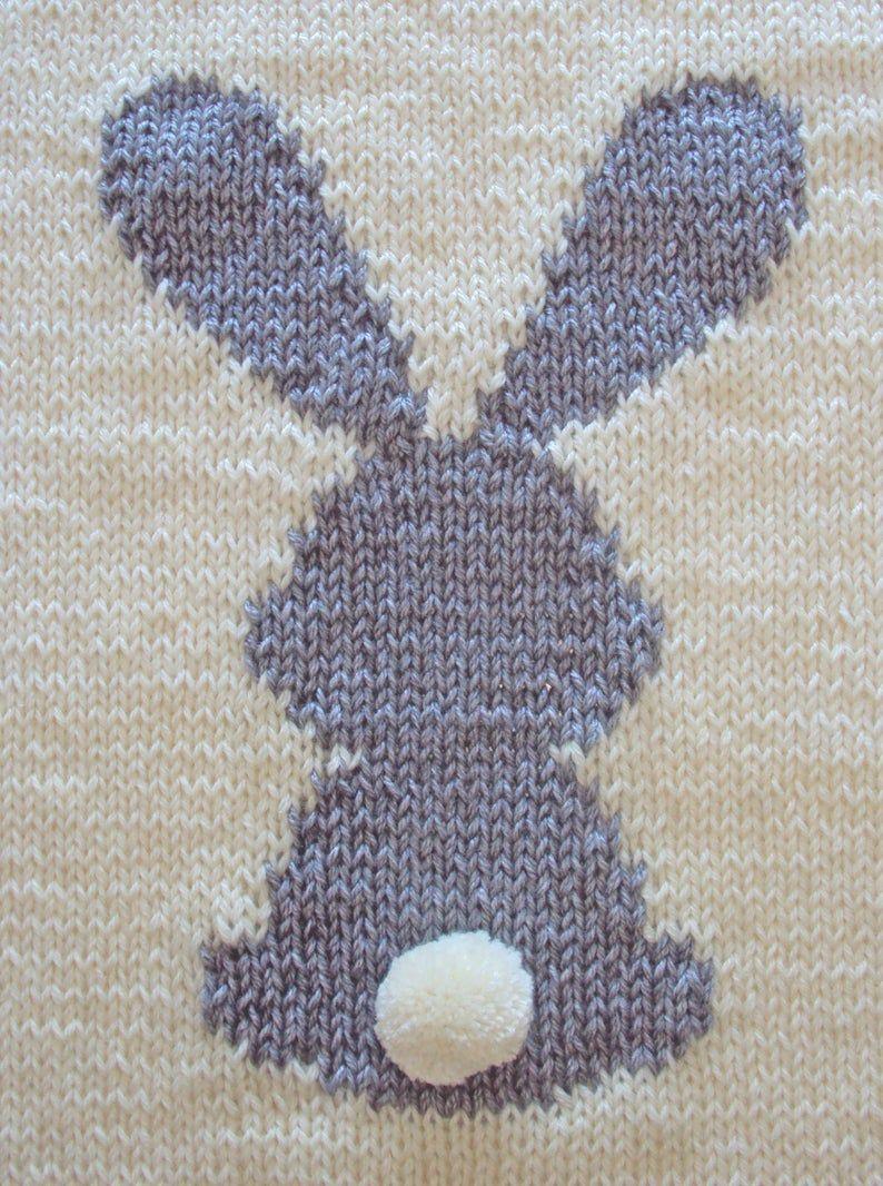 KNITTING PATTERN Bunny Baby Blanket Rabbit Blanket Baby ...