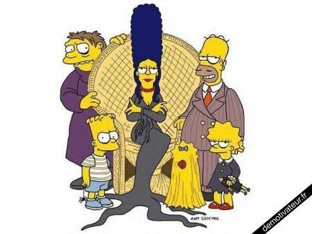 Image drole simpson vs la famille addams delire famille adams dessin famille et tim e - Bande dessinee simpson ...