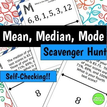 mean median mode practice problems pdf