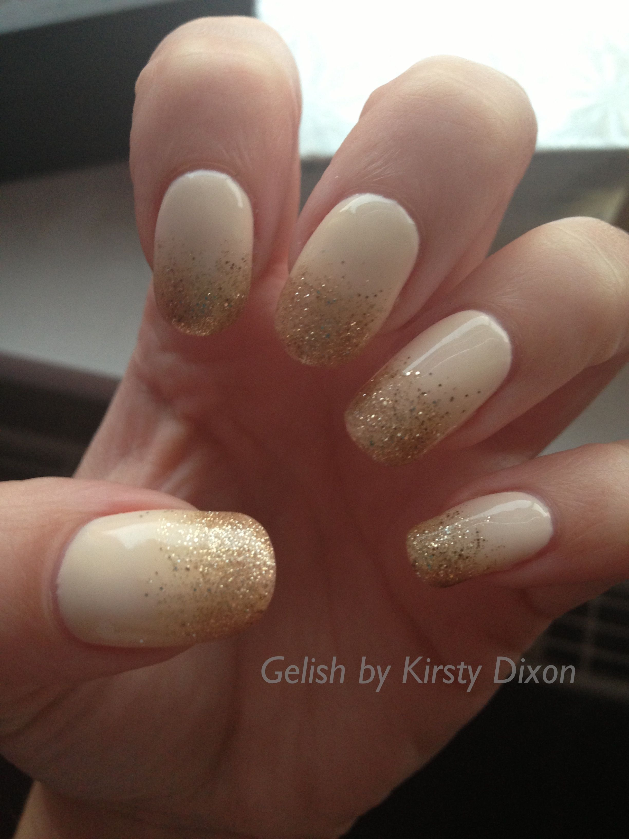 Harmony Gelish nail art. You\'re so suite you\'re giving me toothache ...