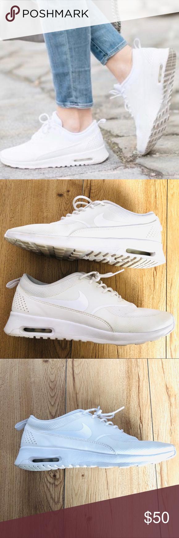Nike Shoes   Nwot Air Max Thea White Silver Sz 85   Poshmark