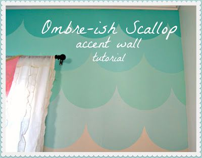 Ombre Scallop Accent Wall Tutorial Amazing Wall Painting