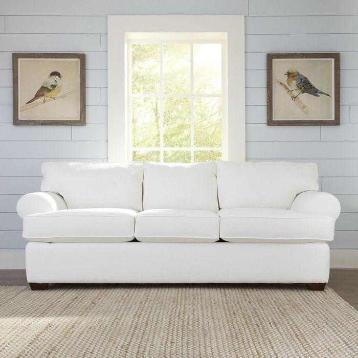 Birch Lane Wright Sleeper Sofa Reviews Not White Probably Denim Or A Blue Gray Tone