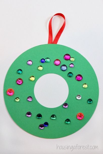 Easy Christmas Crafts For Kids Construction Paper Wreath Kid