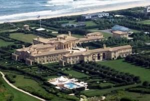 Fairfield Pond, The Hamptons, New York – $170 million  This house is the largest residential compound in the entire United States. Covering 63 acres, it is owned by businessman Ira Rennert. It has 29 bedrooms and 39 bathrooms, one of which is outfitted with a $150,000 tub. It also has its own bowling inn and five tennis courts.