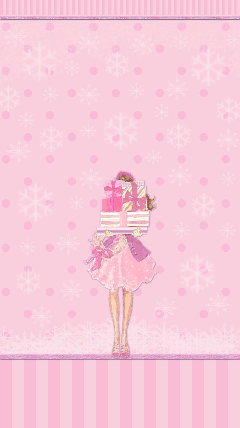 Pink wallpaper iphone christmas happy new year - Girly screensavers for iphone ...