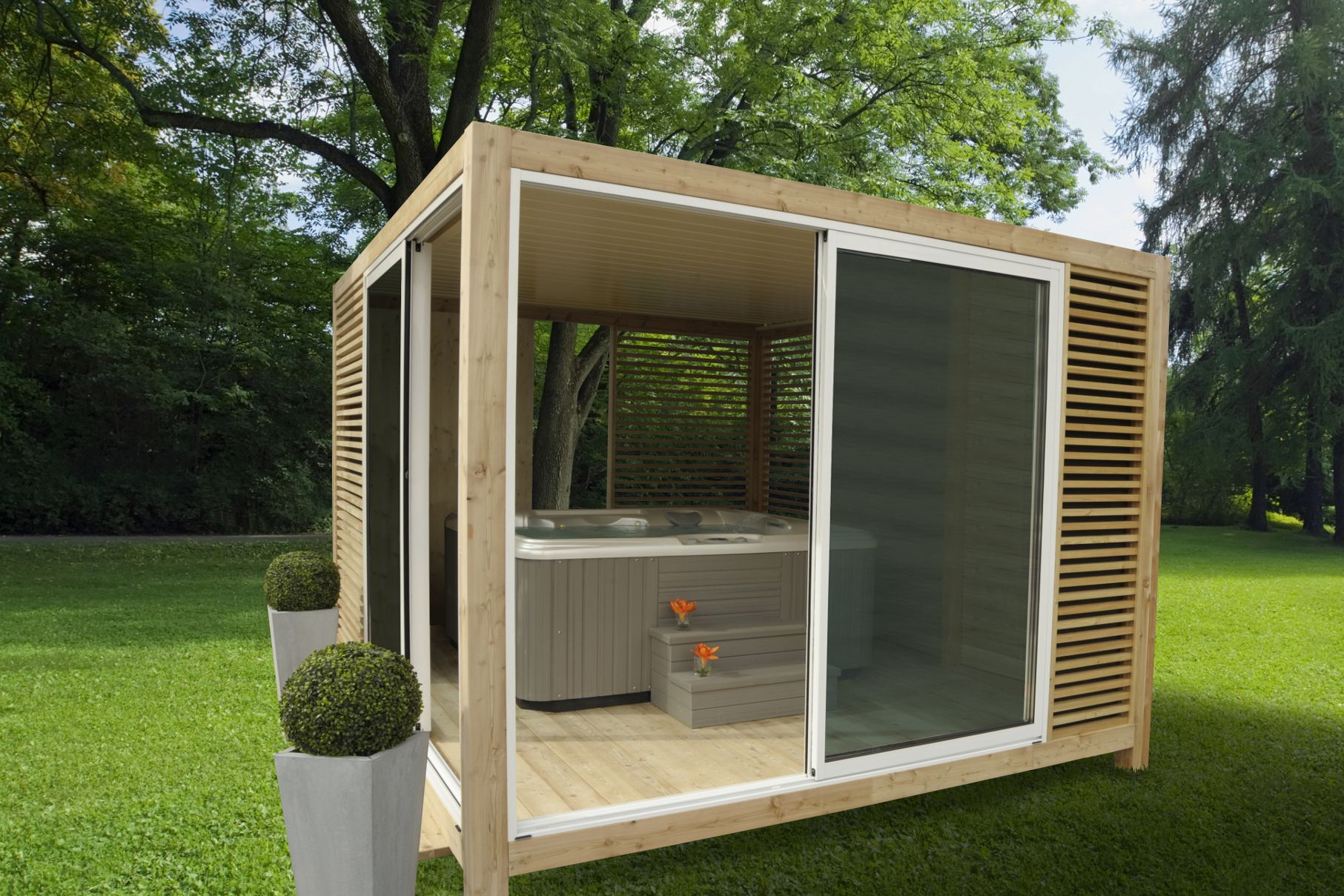 outsun abri spa ind pendant dans le jardin sheds en 2019 pinterest. Black Bedroom Furniture Sets. Home Design Ideas