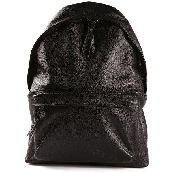 Stampd textured backpack (1 630 PLN) ❤ liked on Polyvore featuring bags, backpacks, black, black backpack, leather zipper bag, zipper bag, leather zipper backpack and black bag