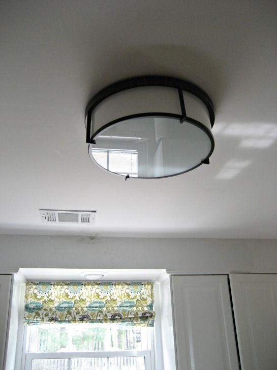 Installing A Flushmount Light In The Kitchen To Replace Ugly