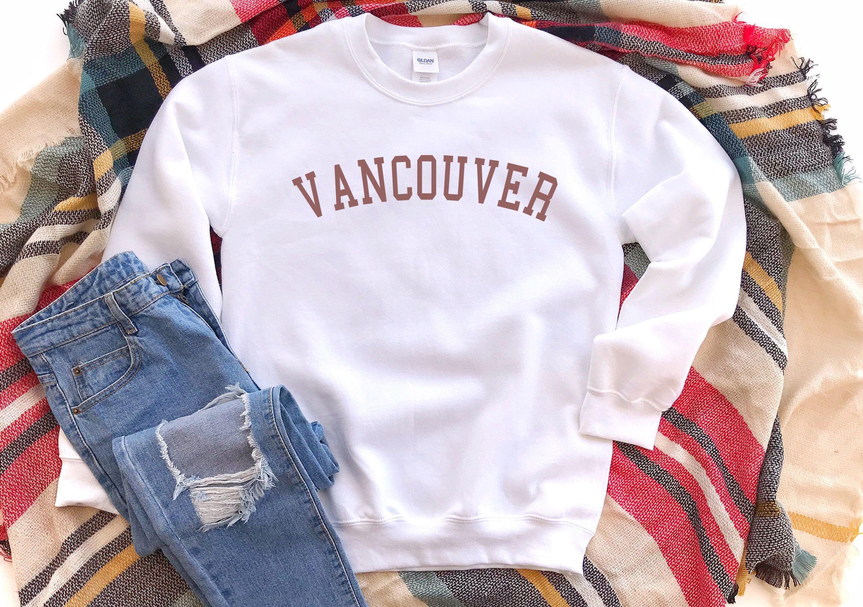 Vancouver Sweatshirt Vancouver Crewneck Sweatshirt Vancouver Sweater Vancouver Vintage Crewneck Sweatshirt Gift For Men Or Women Vintage Crewneck Sweatshirt Sweatshirts Crew Neck Sweatshirt