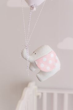 Pink Elephant Baby Mobile S