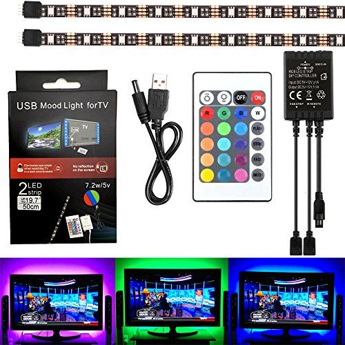 Etopxizu led tv backlighting2x20inch5050 rgb usb led light strip etopxizu led tv backlighting2x20inch5050 rgb usb led light strip kit flexible adhesive aloadofball