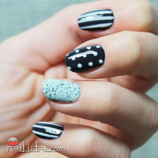 Nail art mix match decoraci n de u as f cil nailistas - Decoracion facil de unas ...