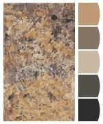 Formica Laminate Butterum Granite Paired With Sherwin Williams Paint Colors Rustic Kitchen Diy Countertops Countertops