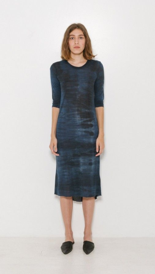 Tie-Dye Basic Tee Dress Raquel Allegra