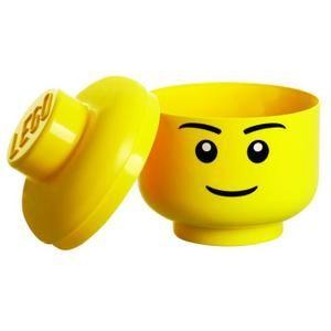 Tête de rangement Lego Garçon, empilable, 16x16x19,5cm - Garçon et Fille - A partir de 3 ans - Livré à l'unité