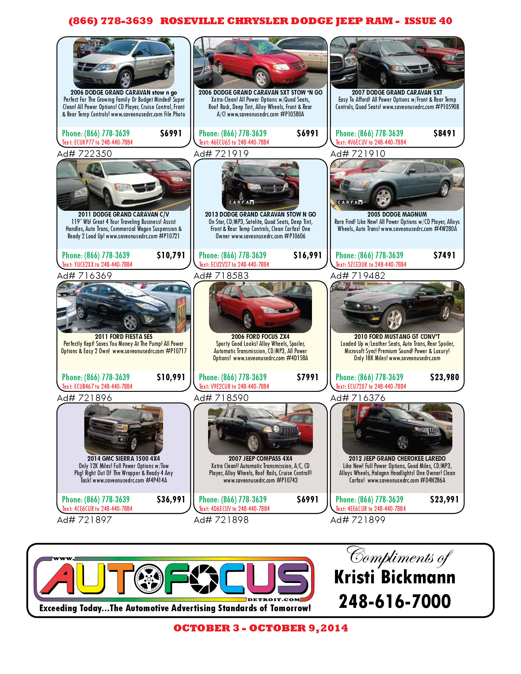 Check Out Our Pre Owned Vehicle Ad For The Week Ending Oct 9