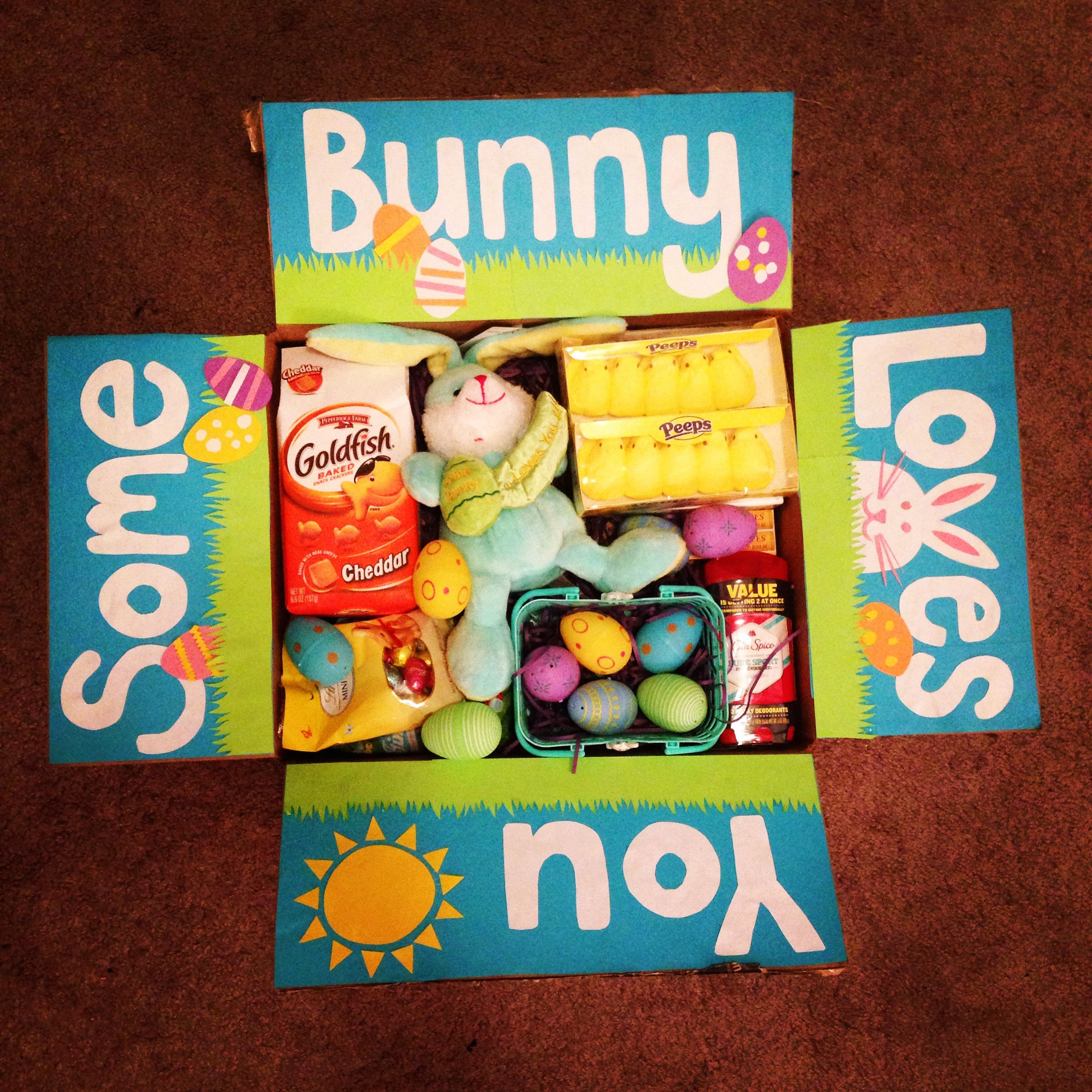 Easter care package for my boyfriend in the navy navy life basket ideas negle Images