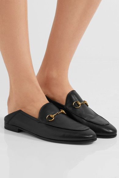 825e107eca3 Gucci - Brixton Horsebit-detailed Leather Collapsible-heel Loafers ...