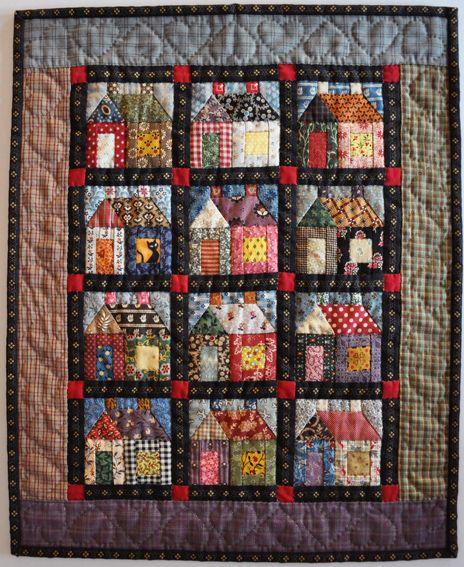 In 2012 gaan we met z 39 n allen een eigen huisjes quilt for Quilt maken met naaimachine