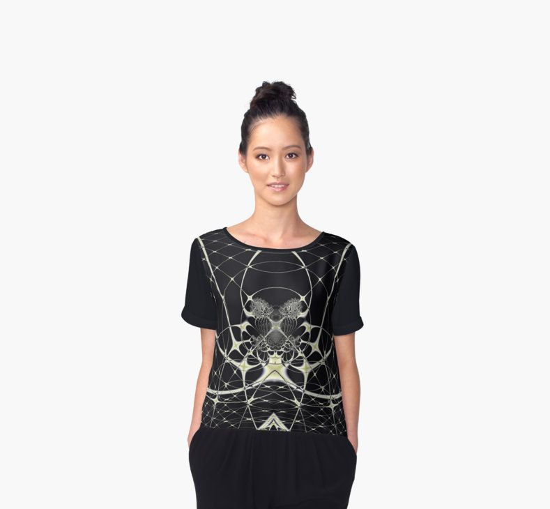 #Elegant fractal design, abstract art, #golden #spiderweb on #black background. • Also buy this artwork on apparel, stickers, phone cases, and more. #shirt