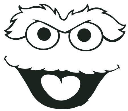 Seseme street oscar the grouch clip art il 570xn for Cut out character template