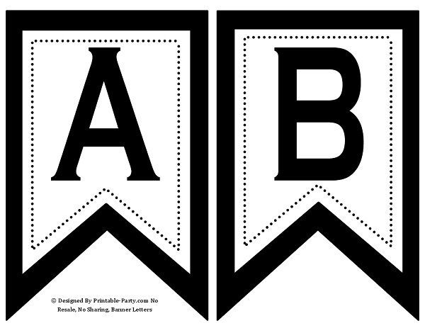 Printable alphabet letters, templates, \ stencils that come with - sale tag template