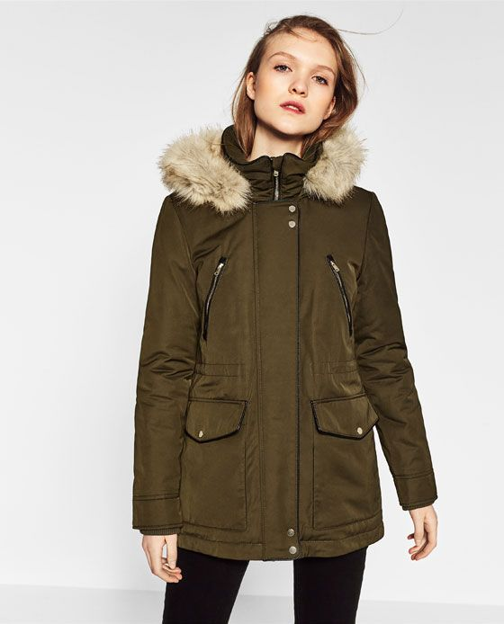 Image 3 of PARKA STYLE COAT from Zara | Zara Spring & Summer ...