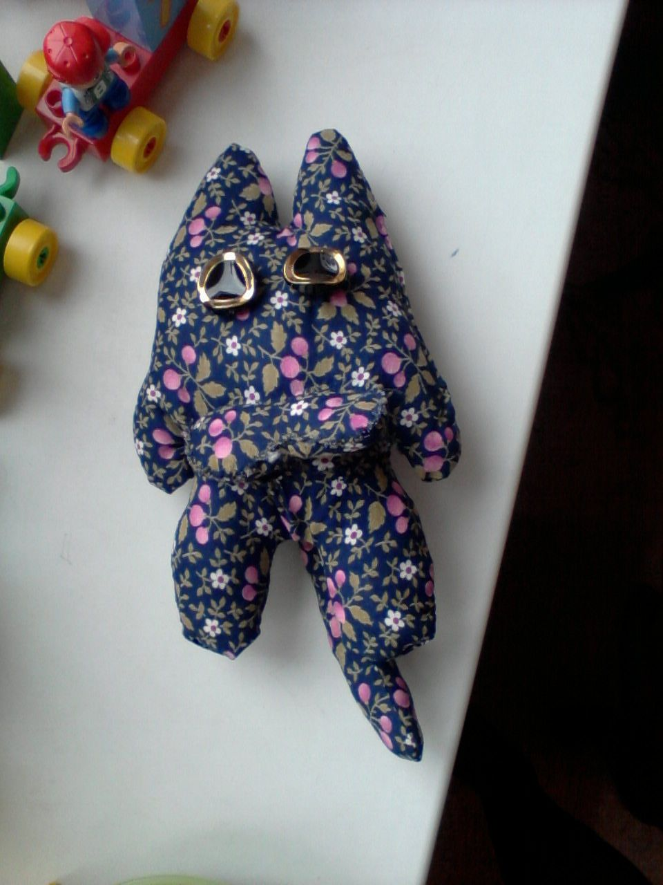 It`s a toy-cat. His name is Ktulkhy... I think you can understand why)) I made it myself.