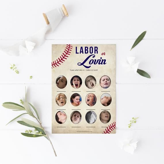 Labor or Lovin Baby Shower Game, Printable Baby Shower Games, Baseball Baby Shower Games, Labor or P - #(game) #baby: #Baseball #games #labor #lovin #or #p #Printable #Shower