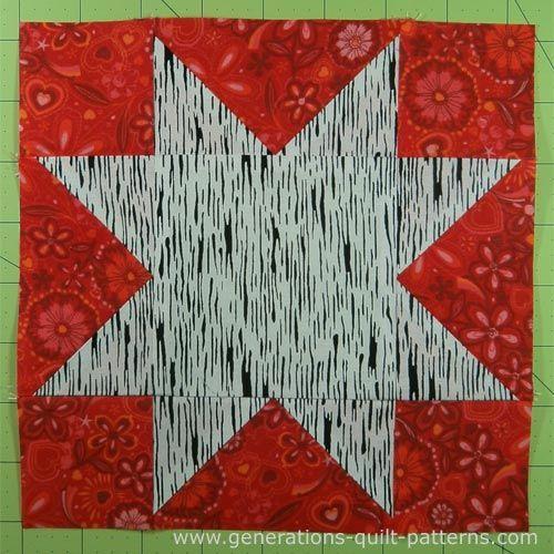 Evening Star Quilt Block Tutorial 4 6 8 10 And 12 Blocks Quilt Block Tutorial Star Quilt Patterns Star Quilt Blocks