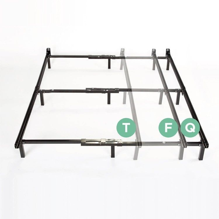 Steel Bed Frame Queen Full Twin Adjustable Bedroom Furniture Black ...