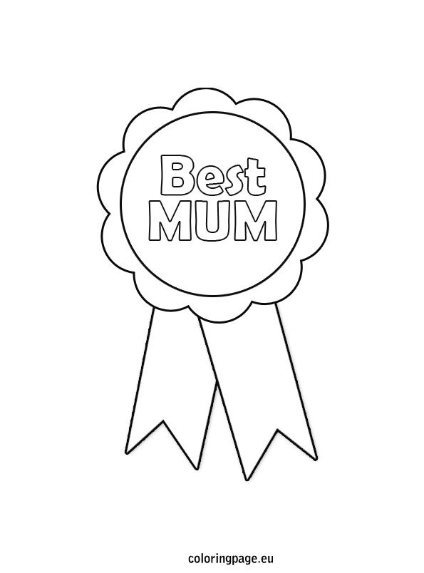 Mother s day rosette coloring page