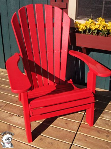 phat tommy deluxe folding adirondack chair recycled poly outdoor