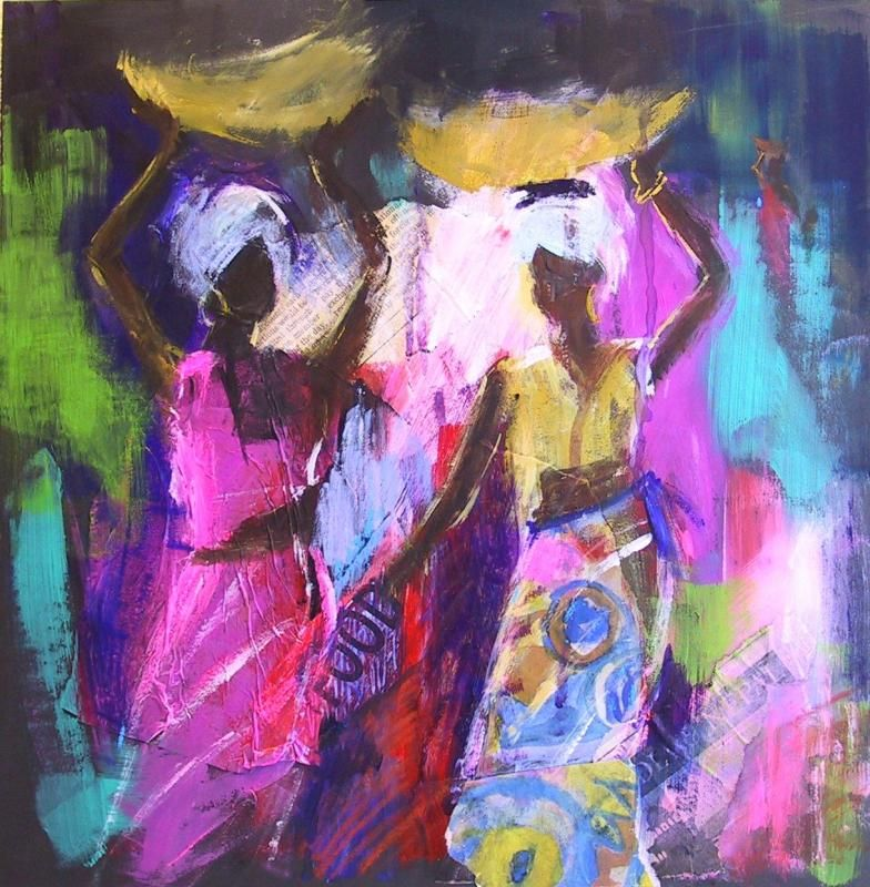 Gallery African Soraya French African paintings, African