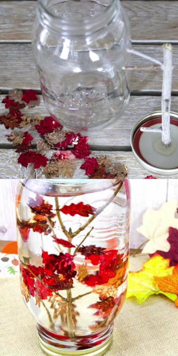Falling Leaves Sensory Jar Video Fall Arts And Crafts Fall Crafts Diy Fall Crafts