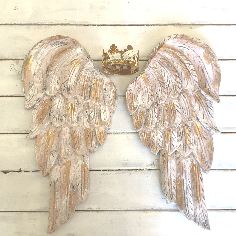 Angel Wing Wine Bottle Rack Holder Ornate Vintage Shabby Cherub Decoration