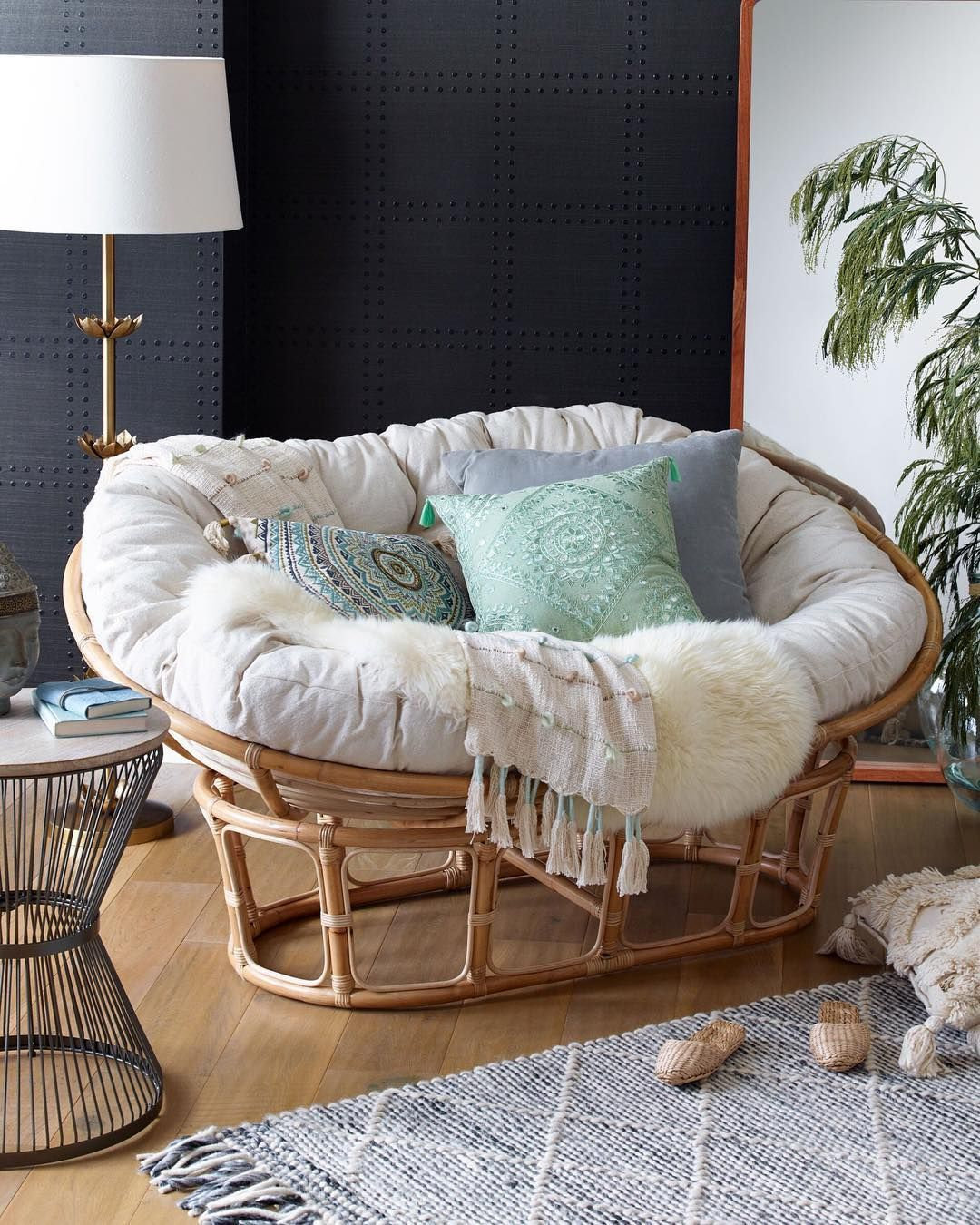 World Market On Instagram Double Up On Relaxation Our New Double Papasan Chair Offers Ample Ro Papasan Chair Living Room Papasan Chair Papasan Chair Bedroom