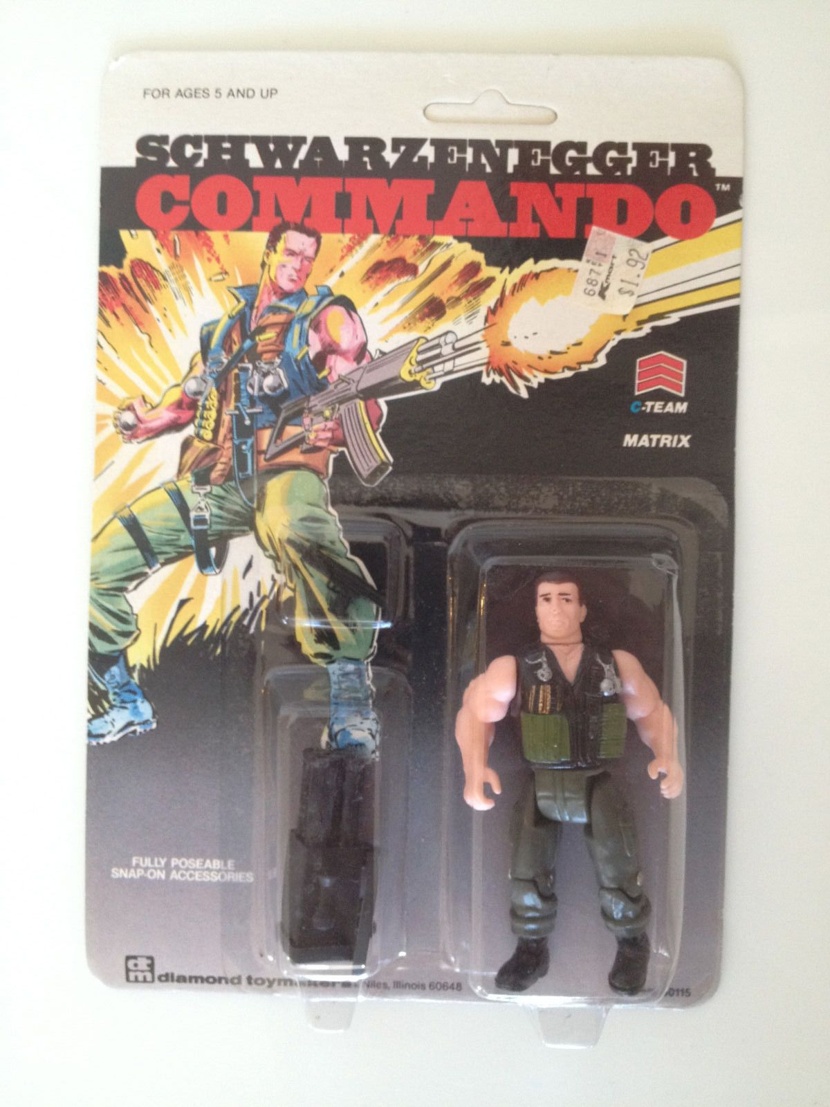 Gi Joe Rot Hund Feile Karte Vintage Actionfigur Renegade Toll Form 1987 Action- & Spielfiguren