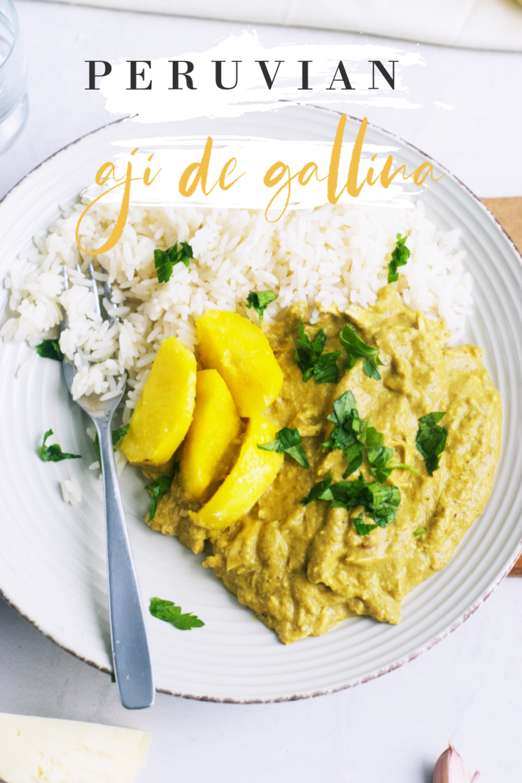 Peruvian Aji de Gallina (Creamy Chicken Chili Stew in 2020 ...