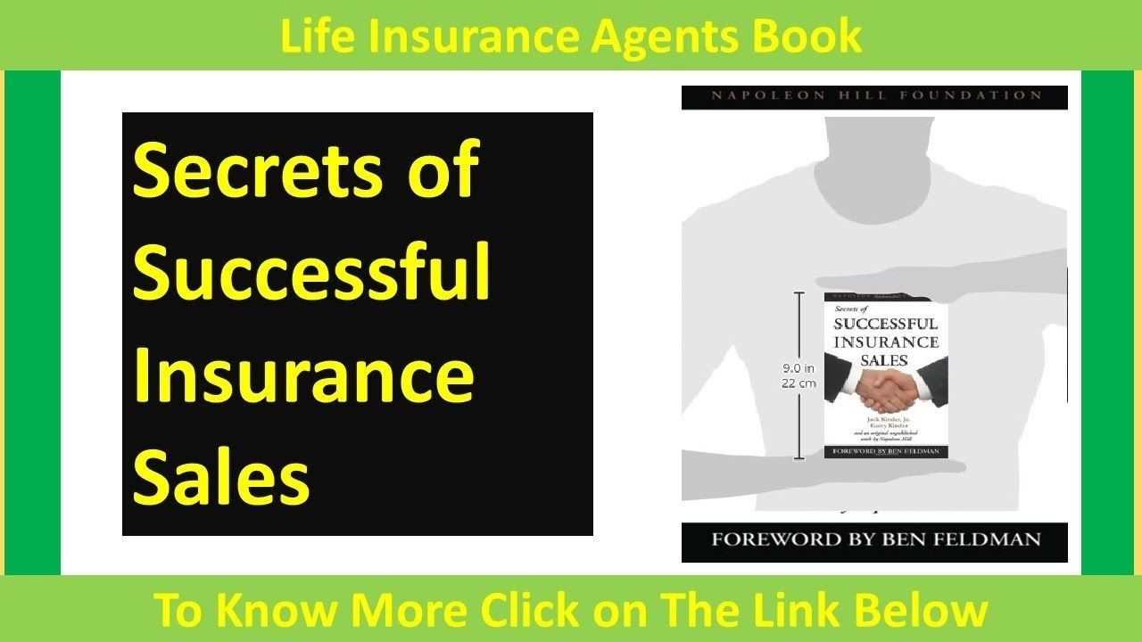 Secrets Of Successful Insurance Sales Life Insurance Agents Book