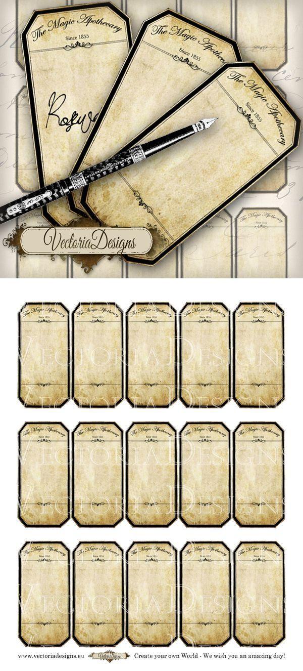 printable blank apothecary labels by vectoriadesigns deviantart com on  deviantart