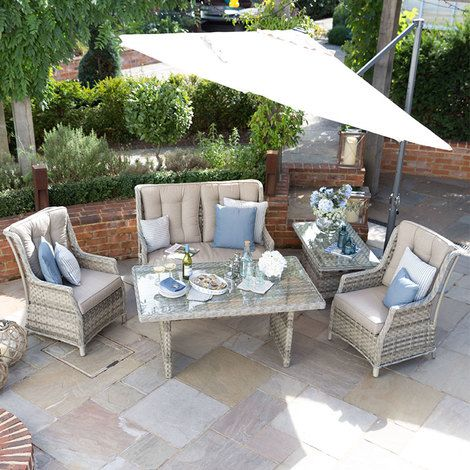 Nova Oyster 2 Seat Sofa Rattan Dining Set For Garden And Outdoor Living This All Weather Ratta Casual Dining Table Outdoor Furniture Sets Patio Furniture Sets
