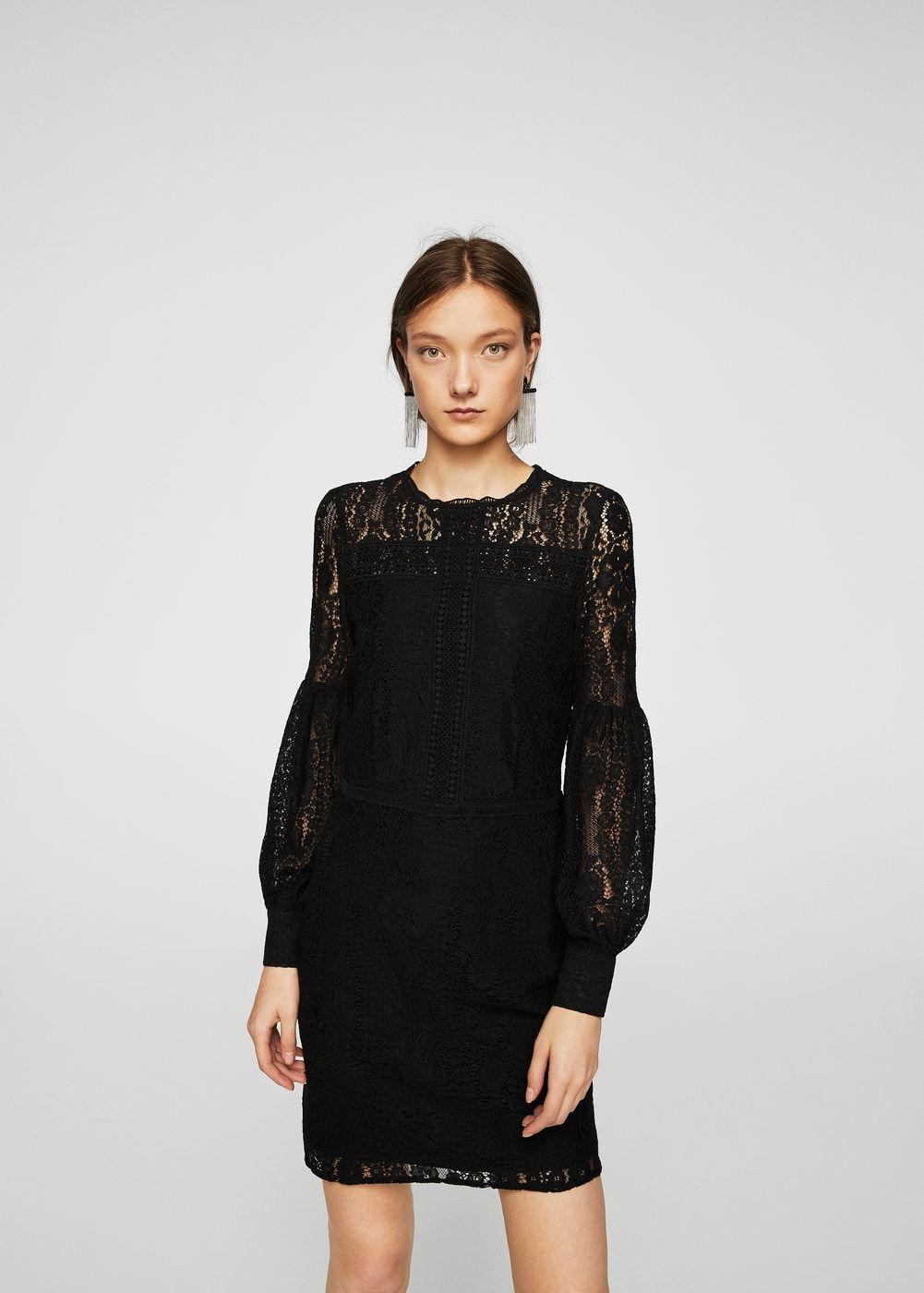 Robe Femme Manches ♡ Mode Bouffantes Guipure zSwSgqr07