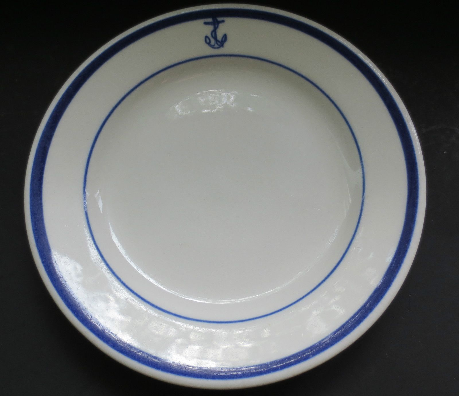 US Navy Officer Mess Plate 6 Fouled Anchor Restaurant Ware Homer Laughlin & US Navy Officer Mess Plate 6\