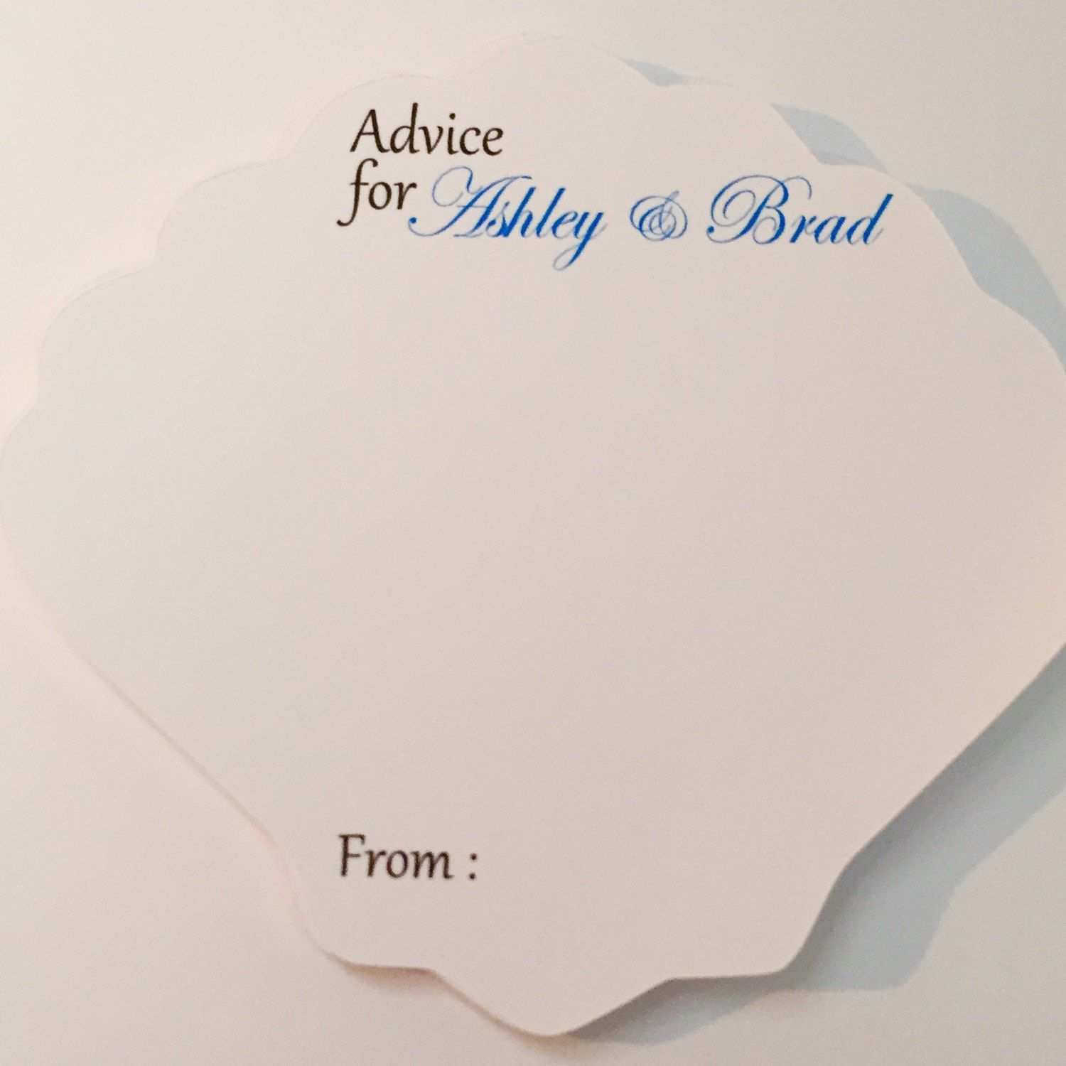 Advice For Bride Cards Bridal Shower Comment Cards Beach Bridal