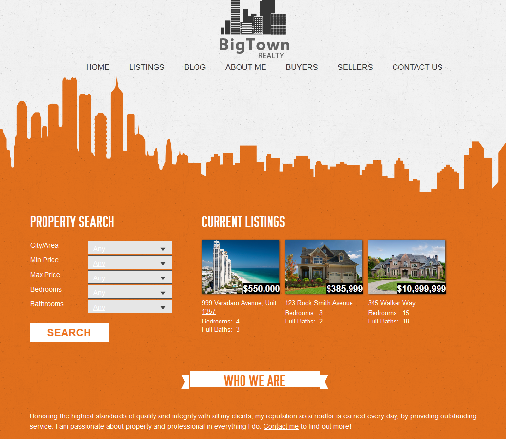 Our #brooklyn #theme #template for #real #estate #agents