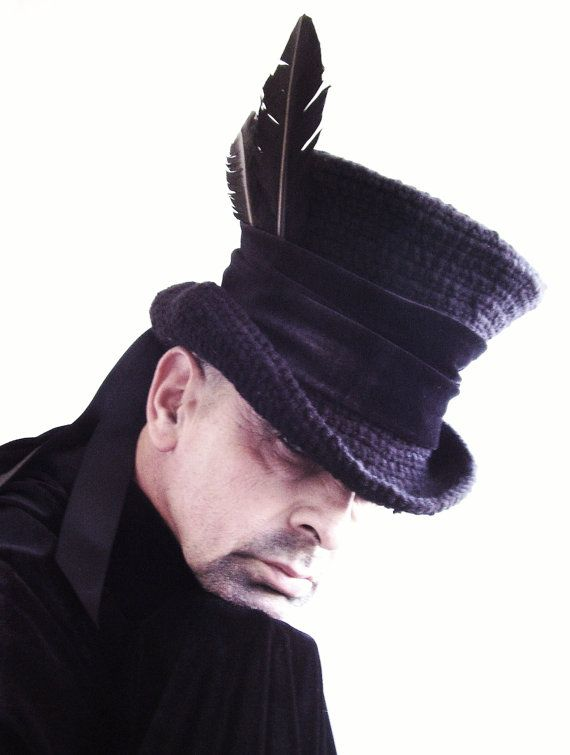 Raven Man s top hat mad hatter by Blackpin on Etsy d27aba6e3dd