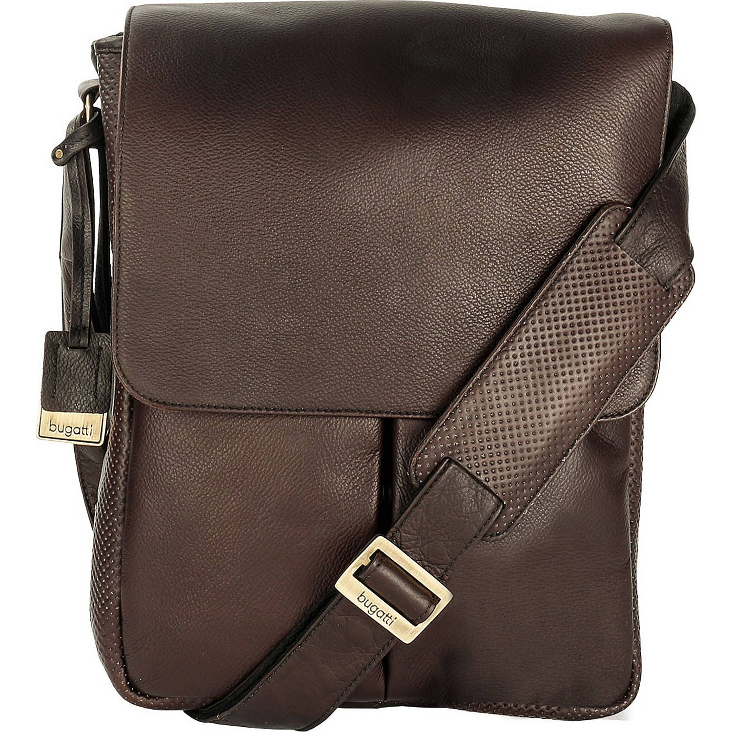 Hidesign Seattle Unisex Leather Crossbody Messenger Black