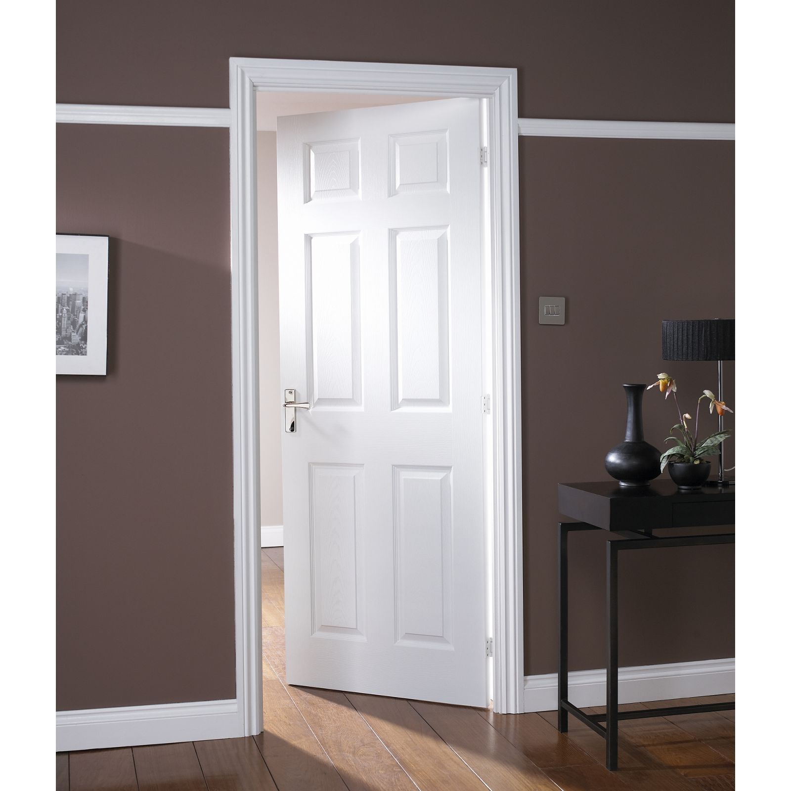 Colonial 6 Panel White Painted Internal Door 762mm Wide At Homebase Co Uk